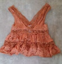 Free People Intimately Lace Sheer Camisole Womens Copper Colored NWT Floral