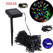 200 LED Outdoor Solar Powered String Light Garden Christmas Party Fairy Lamp WK