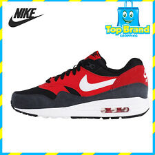 Nike Air Max 1 Essential Red Black Mens Running Shoes Sneakers SIZE 10 & 10.5 US