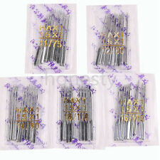 10/50pcs Threading Singer Sewing Machine Needles 75/11 80/12 90/14 100/16 110/18
