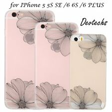 Ultra-Slim Floral TPU PC Clear Cover Case Skin for Apple iPhone 6 6S/6Plus 5S SE