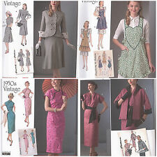 New Simplicity Vintage Retro 1940s 1950s Sewing Pattern Misses Size You Pick