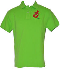 POLO RALPH LAUREN men Mesh POLO SHIRT Custom-Fit Lobster Embroidery MEDIUM LARGE
