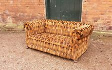OLD VINTAGE CLASSIC CHESTERFIELD DROP ARM 3 SEATER SOFA - FREE UK DEL