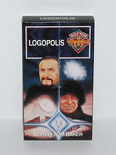 """DOCTOR WHO VHS """"LOGOPOLIS"""" 4TH DOCTOR TOM BAKER LAST STORY COLLECTIBLE MASTER dr"""