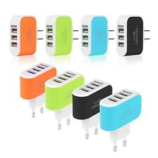 EU/US Plug 3.1A 3 USB Port Wall Charging Adapter For IOS Android Phone iPhone LG