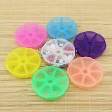 Travel 7 Days Tablet Pill Capsule Container Holder Weekly Medicine Storage Box