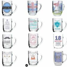 Personalised Pint Glass Tankard Birthday Fathers Day Gift Idea For Dad Him