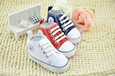 Infant Toddler Baby Boy Girl Soft Sole Pram Shoes Trainers Newborn to 18 Months