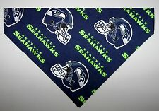 NFL Seattle Seahawks Dog Bandana Scarf –Slide over Collar– Size Small to XLarge