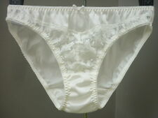 Vintage Sexy Sissy Sheer Lace Nylon Panties Hi-Cut Briefs Knickers Underwear L/7