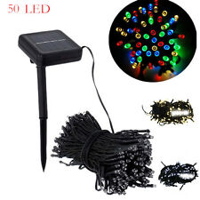 50 LED Outdoor Solar Powered String Light Garden Christmas Party Fairy Lamp New