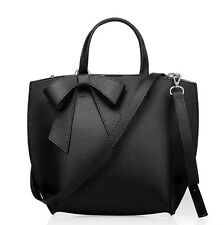 Simple Solid Leather Work Tote Bags Women Outdoor Shoulder Bags Shopping Handbag