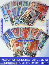 MATCH ATTAX EXTRA 2012/13 Topps 2013 MAN OF THE MATCH Cards 12 13 HAT-TRICK HERO