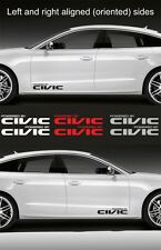 """2pcs Powered by CIVIC 15"""" wide Vinyl Decal Sticker Emblem Logo Graphic for Honda"""