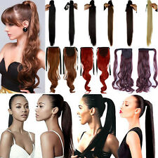 Clip In Ponytail Pony Tail Hair Extension Claw Wrap On Hair Piece As Human B86