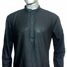 Indian Kurta Shirt Plus Size Men's 100% Cotton Solid Loose Fit All Size Availabl