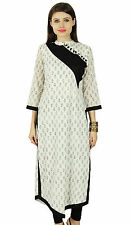 Floral Bollywood Kurta Women Designer Ethnic Kurti Cotton Top Tunic Dress