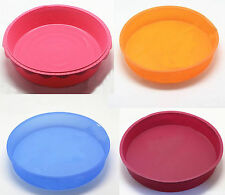 """10"""" Silicone Round Pizza Cake Chocolate Muffin Mold Mould Tray Pan Tin Baking"""