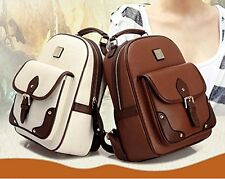 Womens PU Leather Travel Handbag Schoolbag Backpack Shoulder Bag-Fashion Retro