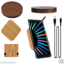Qi Wireless Charger Charging Wooden Stand Dock for Samsung  Galaxy Note 7 S7 S6