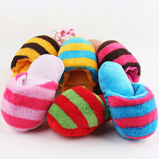 Dog Toy Pet Puppy Chew Play Squeaky Squeaker Sound Cute Plush Slipper Shape