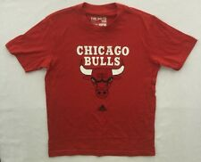 Chicago Bulls Adidas Primary Front logo NBA Men Youth T Shirt Red