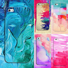 Watercolor Rubber Soft TPU Silicone Back Case Cover for Apple iPhone 6 6s 7 Plus