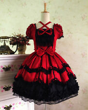 Vintage Gothic Cute Lolita Skirt Dress Sweet Kawaii Dress Cosplay Costume