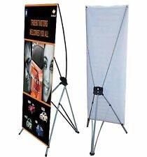 """X Banner Stand 24"""" x 63"""" Bag Trade Show Display Advertising sign Exhibition efw"""