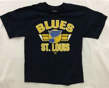 NHL Boy's Old Time Hockey St. Louis Blues Front Logo T-Shirt, Blue