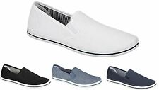 Mens Slip On twin gusset Canvas Espadrilles Pumps Plimsolls Beach Boys Canvas