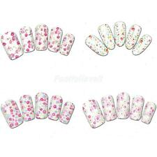 Various Design DIY Nail Art Stickers Water Decals Nail Wraps Transfers 8 Styles