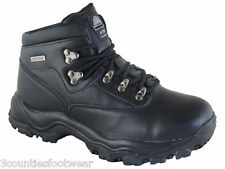 Womens Walking Boots Black Leather  -  Waterproof Hiking Boots - CLEARANCE