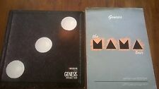 VINTAGE GENESIS LOT THE MAMA TOUR AMERICA 83/84 PROGRAM AND INVISIBLE TOUR 1987