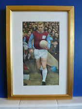 Bobby Moore West Ham United & England Hand Signed Picture - Older style