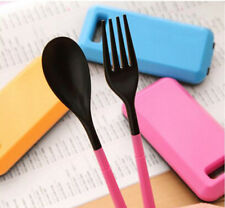 For Travel Portable Plastic Cutlery Camping Tableware Set Spoon Fork Chopsticks