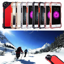 Waterproof Metal Case Cover Wide Angle Macro Fisheye Camera Lens 4IN1For iPhone