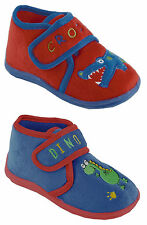 Childrens / Toddlers / Boys Slippers with Hook & Loop Strap Fastening