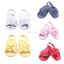 0-12M Newborn Infant Baby Toddler Lace Flower Shoes Boots Booties Shoes Non-Slip