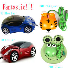 Mini Wired Cute 3D Tiger Car Frog USB Mice Optical Mouse For Laptop Notebook PC