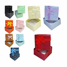 1Pcs Ring Earring Necklace Square Jewellery Gift Case Boxes Display Package EV