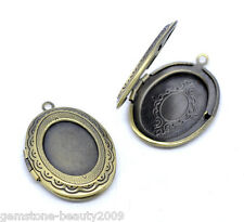 Wholesale HOT! Bronze Tone Photo Oval Locket Frame Pendants 34x24mm