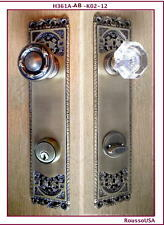 Exquisite Entry Door Set for exterior door. Custom design Rousso's Reproductions