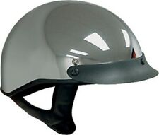 D.O.T CHROME MOTORCYCLE HELMET HALF HELMET BEANIE HELMETS SHORTY LIGHTER NEW