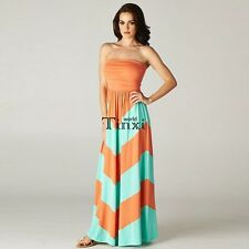Sexy Women's Long Backless Strapless Prom High Waist Cocktail Maxi Dress TXWD
