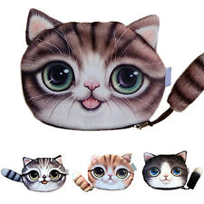 Children Gift Cat Face Tail Coin Purse Kids Wallet Bag Change Pouch Key Holder