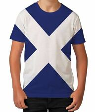 Scotland Flag Patriotic Scottish St Andrews Cross Boys Unisex Kids Child T Shirt