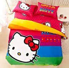 *** Rainbow Hello Kitty Single Bed Quilt Cover Set - Flat or Fitted Sheet ***