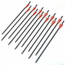 "12x Carbon Arrows 20""/22"" Crossbow Bolts for Crossbow Hunting Archery Hunter New"